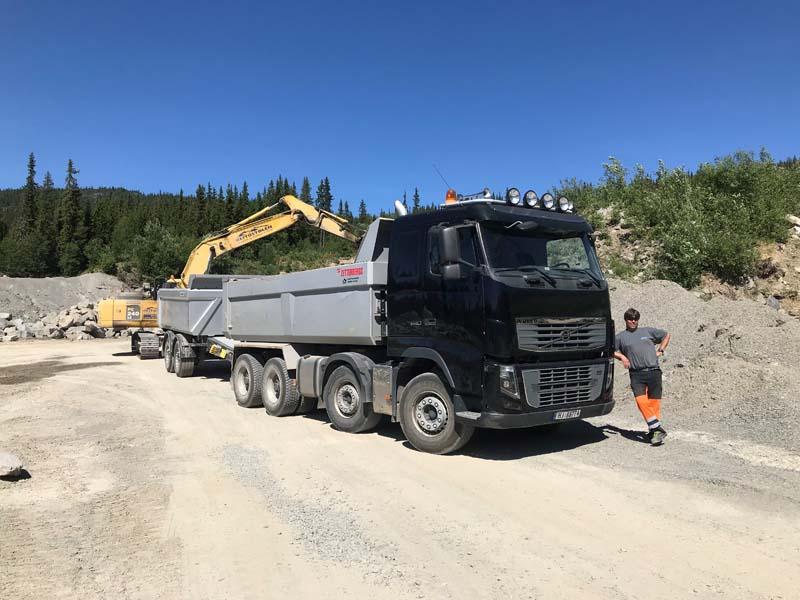 Grustak og naturstein i Skammestein, Valdres