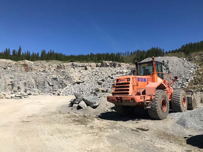 Grustak og naturstein i Valdres